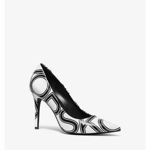 Michael Kors Claire Leather Logo Pump